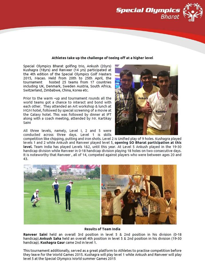 Ranveer saini represented india at golf masters 2015 at macau ranveer saini represented india at golf masters 2015 at macau posted by admin in happenings miscellaneous records accolades on june 20 2015 altavistaventures