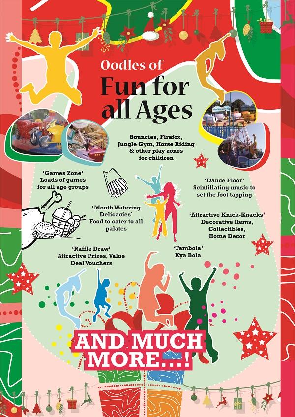 Christmas carnival flyer details