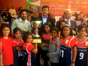 Scottish High's under 10 girls Basketball team win the 23rd Ramjas Basketball Champions league (1)
