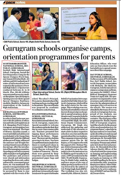 Gurugram school organize camp, Coverage by HT pace Today