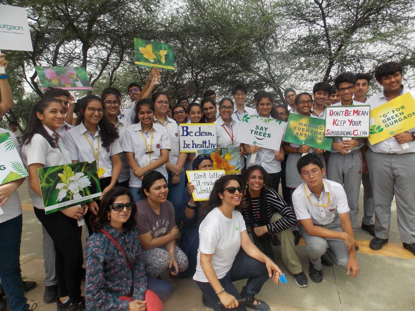 Green Warriors for planting Aravalli native species at Bundh (2)