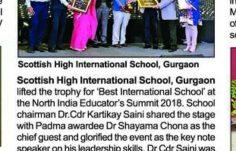 Best International School Award - Coveragae by Gurgaon Times -16th Sept