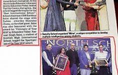 Best International School Award - Coveragae by Hindustan Times 17th Sept