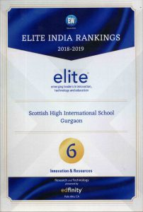 Best ELITE School in India no.1 ' Education world School ranking 2018-19