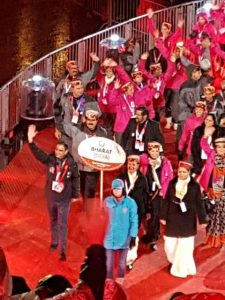 Dr Kartikay Saini Leading Team India Contingent during Special Olympic World Games 2015 USA