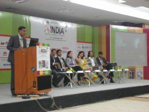 Dr Kartikay Saini at World Education Summit on 'e-India'- Gandhinagar.