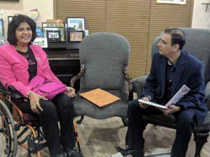 Dr Kartikay Saini with Indian Athlete Deepa Malik