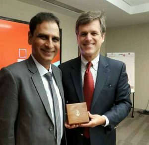Dr Kartikay Saini with Mr. Tim Shriver Chairman, Special Olympics International