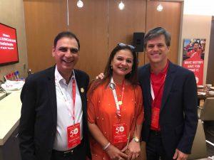 Dr Kartikay Saini with Mr. Tim Shriver and Ms. Bakhtawar Saini at Global Leadership Conference Singapore