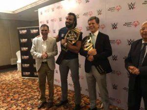Dr Kartikay Saini with Mr. Tim Shriver and WWE team