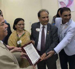 Dr Kartikay Saini with Ms. Oswal