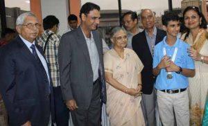 Dr Kartikay Saini with Ms. Sheila Dikshit Cheif Minister of Delhi