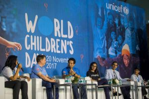Dr Kartikay saini represented the Special Olympics Bharat as the Panelist along with cricketer Sachin Tendulkar at UNICEF world Children's Day 2017