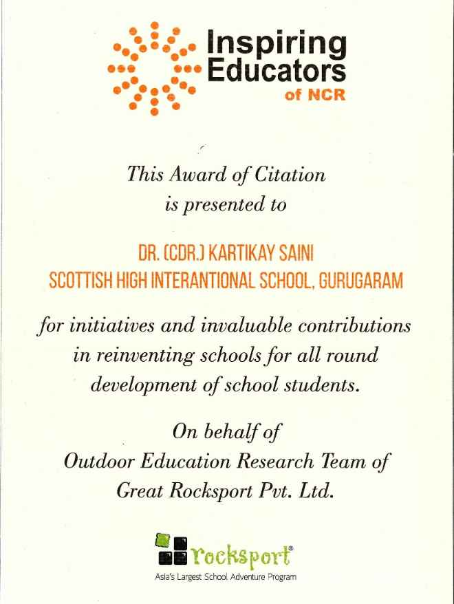 Inspiring Educators Awards - Kartikay Saini