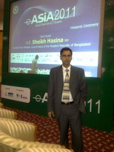 Kartikay Saini during conference eAsia 2011 Bangladesh