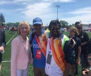 Kartikay Saini with Ms. Mary Davis CEO Special Olympics International