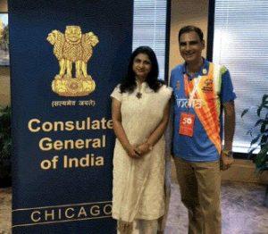 Kartikay Saini with UN Consulate General of India in Chicago