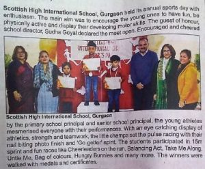 Annual Sports Day - Coverage by Times of India - 4th Feb