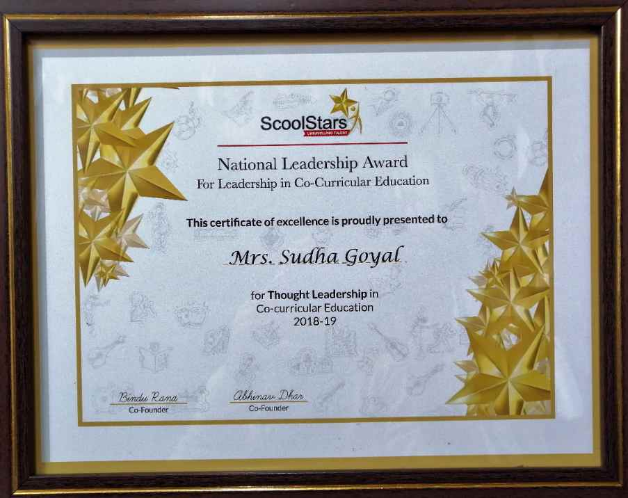 National Leadership Award 2019 by ScoolStars