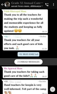 Parent feedback on Annual Camp for grade XI (3)