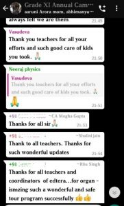 Parent feedback on Annual Camp for grade XI (5)