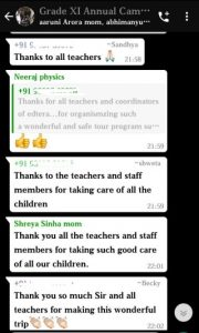Parent feedback on Annual Camp for grade XI (8)
