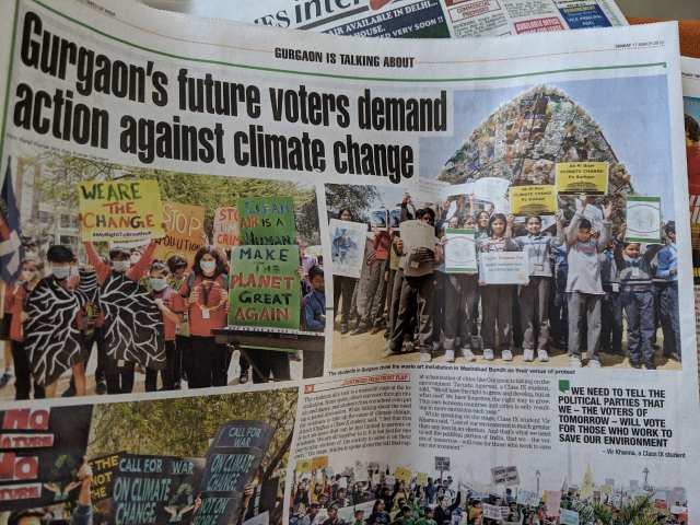 Media coverage by Times of India - Scottish High Students protest for climate breakdown (1)