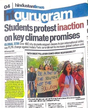 Media Coverage by Hindustan Times - Students protest inaction on key climate promises
