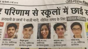 Dainik Jagran Coverage for ISC Result 2019 , Scottish High International School topped