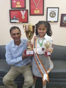 Young Highlander- Emya Jain of grade 4 has won the First Prize - Spell Bee (4)