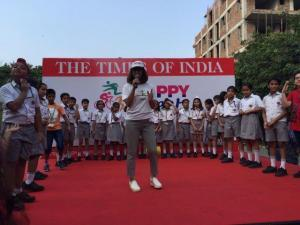 Little Highlanders took to the streets -Happy Streets initiative by Times of India (1)