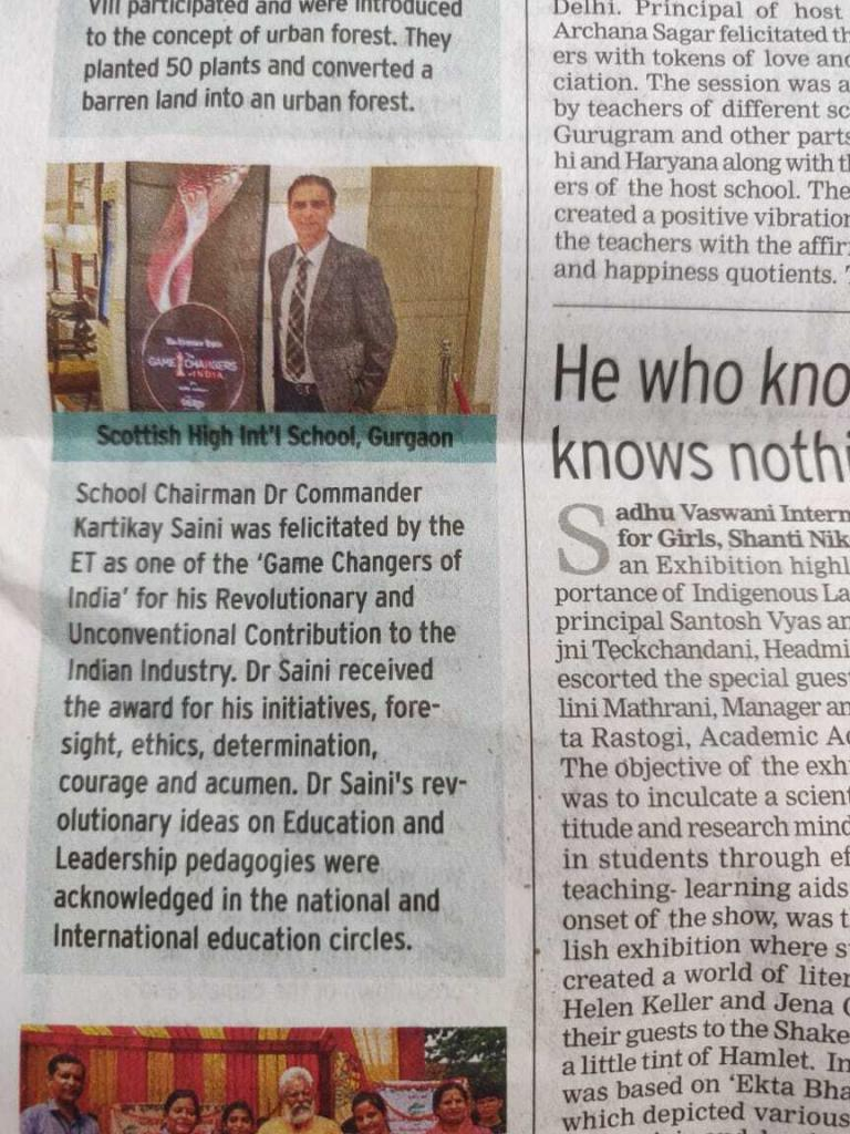 Dr-Cdr.-Kartikay-Sainis-Award-Game-Changers-of-India.-coverage-by-Times-of-India