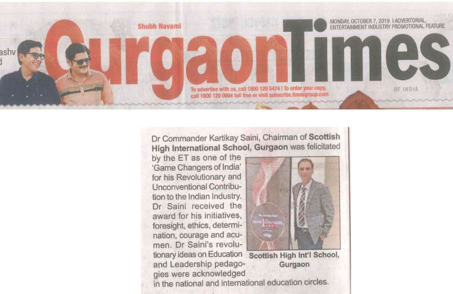 Dr-Cdr.-Kartikay-Sainis-Award-Game-Changers-of-India-coverage-by-Gurgaon-Times