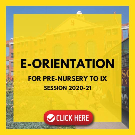 E Orientation – Session 2020-21